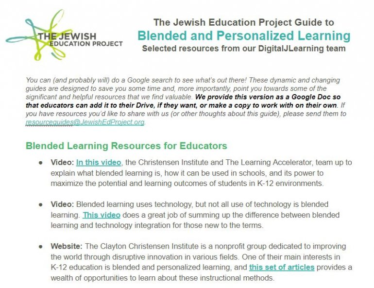 Blended Learning Resource Guide