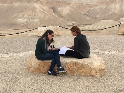students studying in Israel