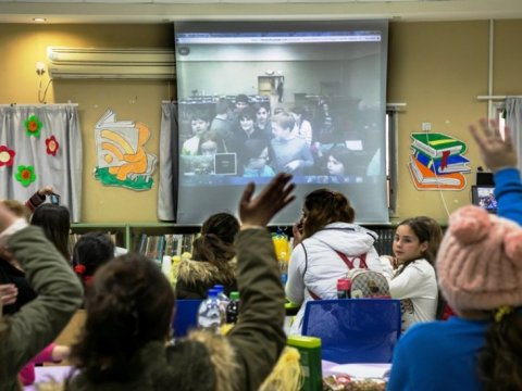 Twinned schools use technology to stay connected. Photo: Nir Kafri for The Jewish Agency for Israel